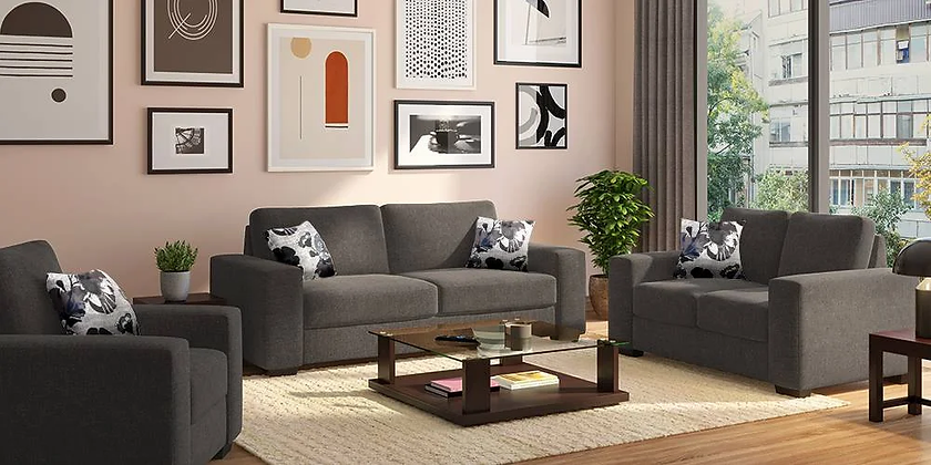 Star High Sofa Set in Grey Color