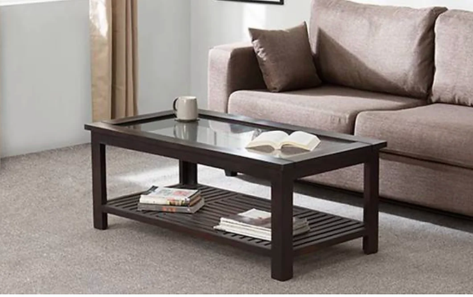 Romeo Center Table in Brown Color