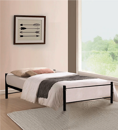 Razon Clear Iron Bed in Black Color