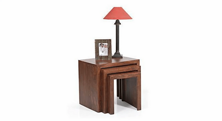 Hamilt Nested Stools in Brown Colour