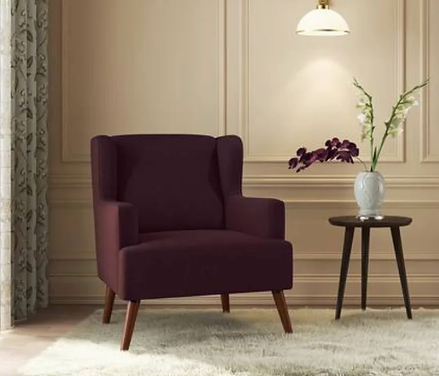 Brideo Arm Chair in Brown Color
