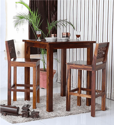 Aura Wood Bar Table Set