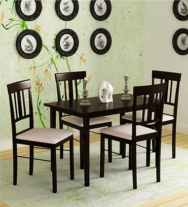 Classic Me Dining Table Set in Brown Colour