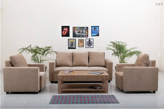 Supreme Beige Color Sofa Set