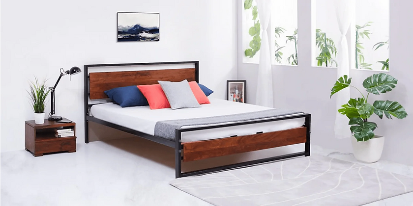 Cristal Clear Bed in Brown Color