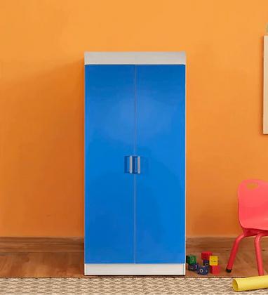 Aqua Splash 2 Door Wardrobe in White & Blue