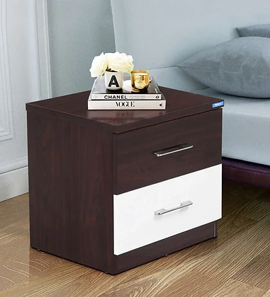 Romio Bed Side Table in Brown Color