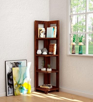 Enkel Solid Wood Book Shelf in Honey Oak Finish