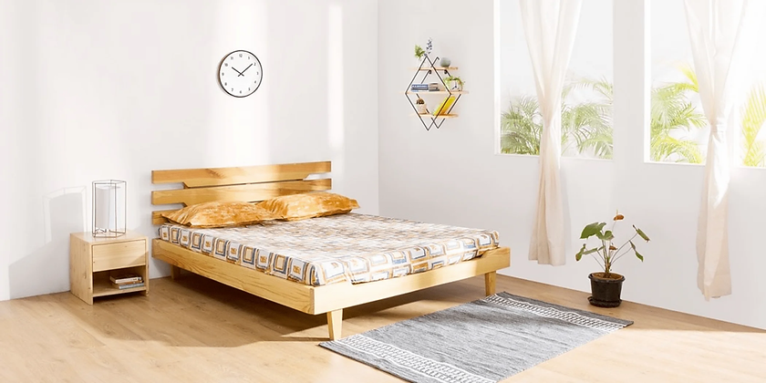 Classic Bed in Brown Color