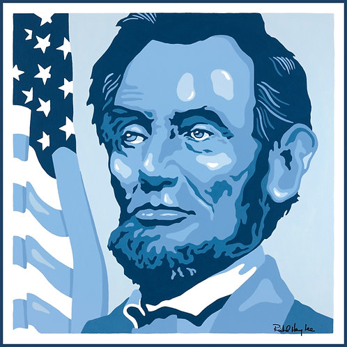 Lincoln in blue, Original Painting