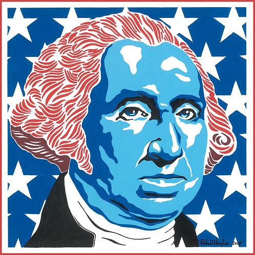 Patriotic George, Original Painting