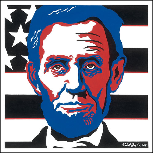 Patriotic Lincoln, Original Painting