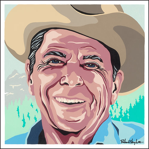 Cowboy Reagan Original Painting