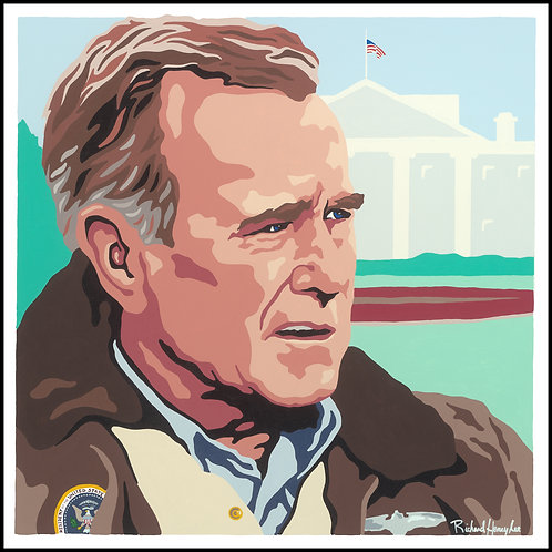 George H. W. Bush Original Painting