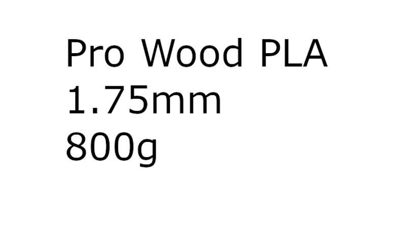 Pro Wood PLA 1.75mm 800g