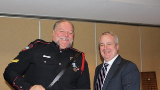 Cpl. Eugene Belliveau receives certificate of recognition in Crime prevention