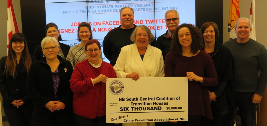 CPANB presenting cheque to NB South Coal