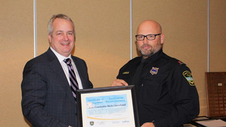 Rick Cleveland Receives certificate of recognition