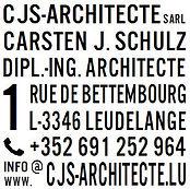 Adressblock CJS Architecte
