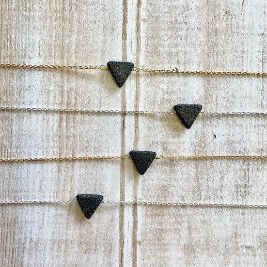 Triangle Lava Diffuser Necklace