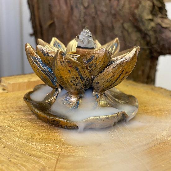 Bronzed Lotus Backflow Burner