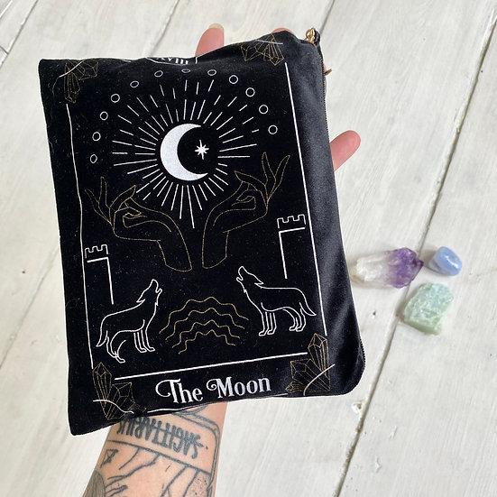 The Moon Card Velvet Pouch