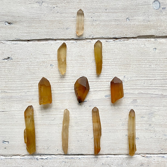 Raw Natural Citrine Points