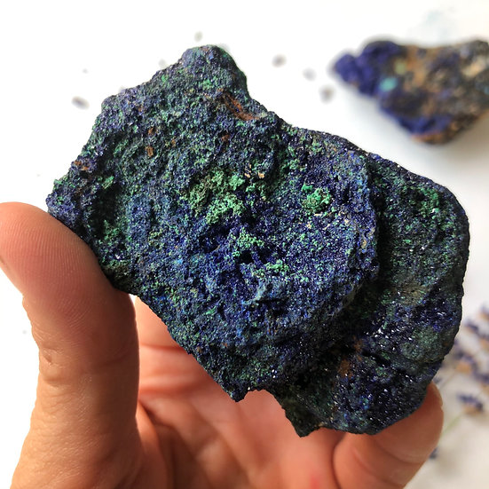Raw Azurite with Malachite #3