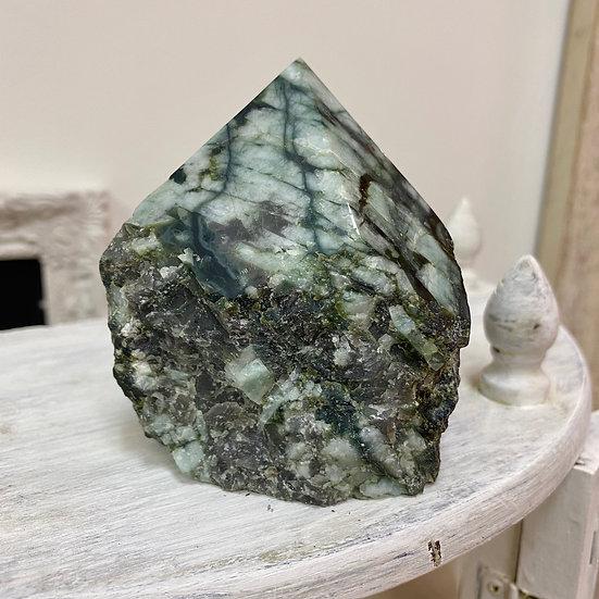 Emerald Half Polished Point #1