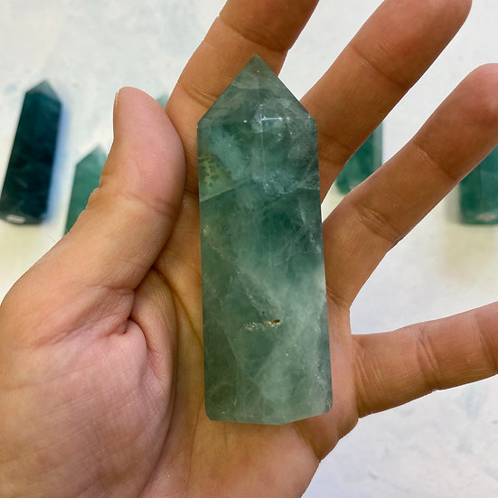 Green Fluorite Polished Point #2