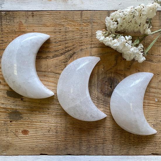 Large Selenite Crescent Moon