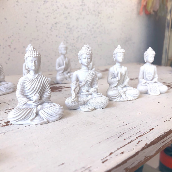 Mini Cream Buddha Statue