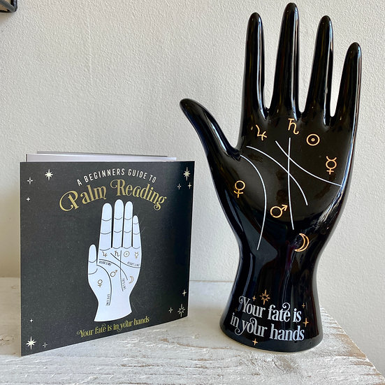 Ceramic Palmistry Ornament - Black
