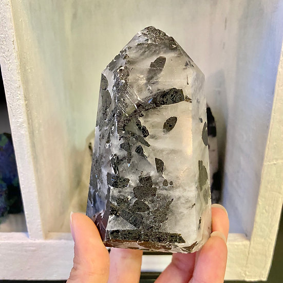 Tourmalinated Quartz Point #3