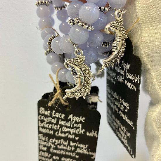 Blue Lace Moon Bracelet