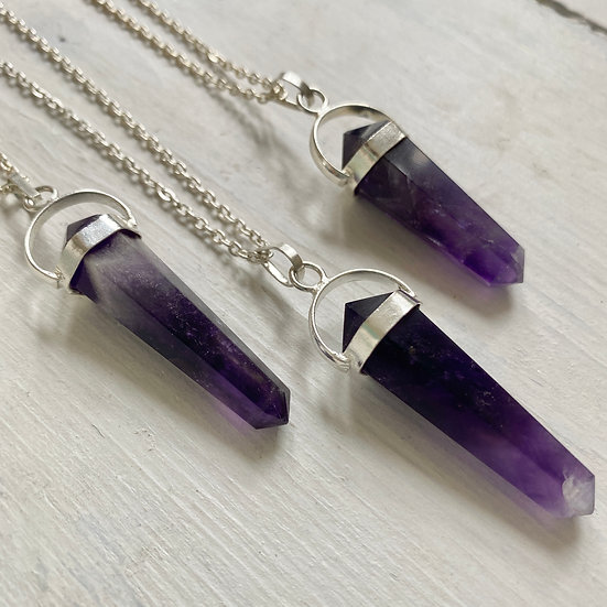 Amethyst Double Terminated Necklace