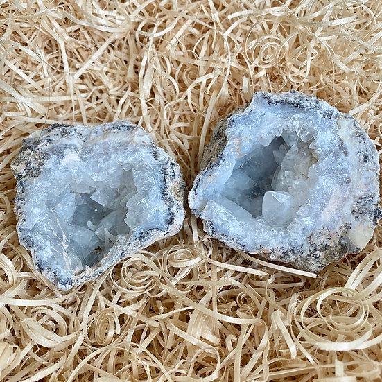 Chalcedony Quartz Geode Set #1