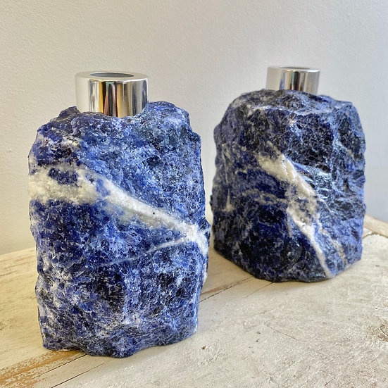 Raw Sodalite Reed Diffuser Bottle