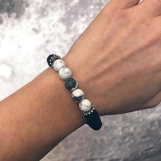 Howlite Lava Diffuser Bracelet