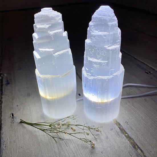 Small Selenite LED Lamp