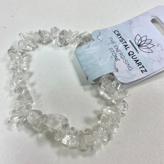 Quartz Crystal Chip Bracelet