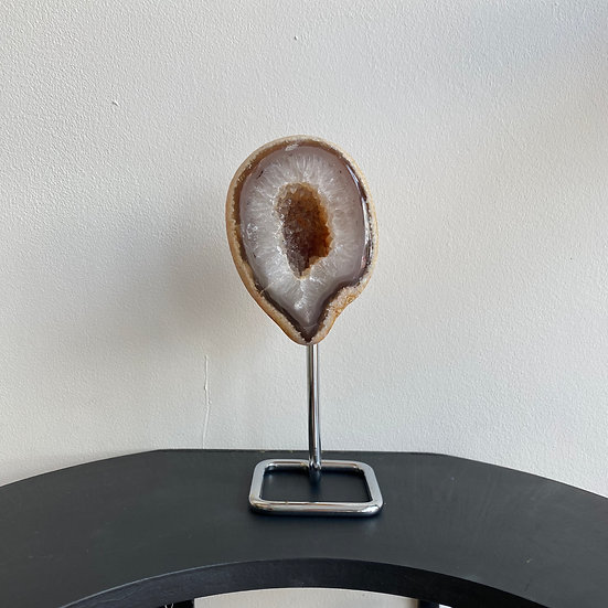 Agate Geode on Stand