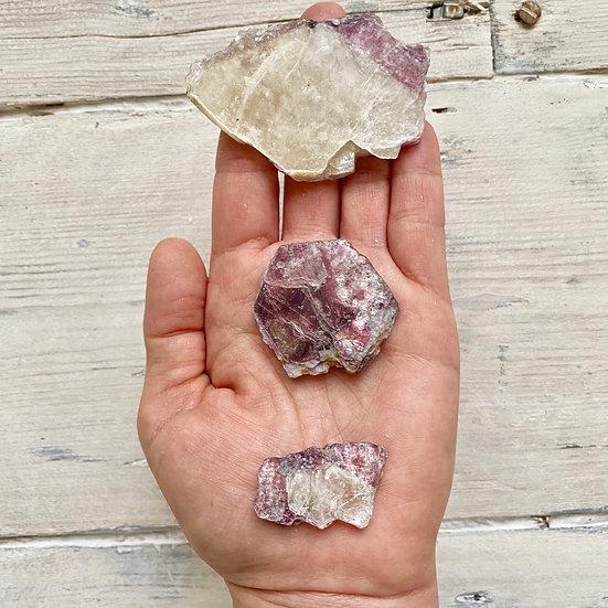 Bi-Colour Lepidolite with Mica