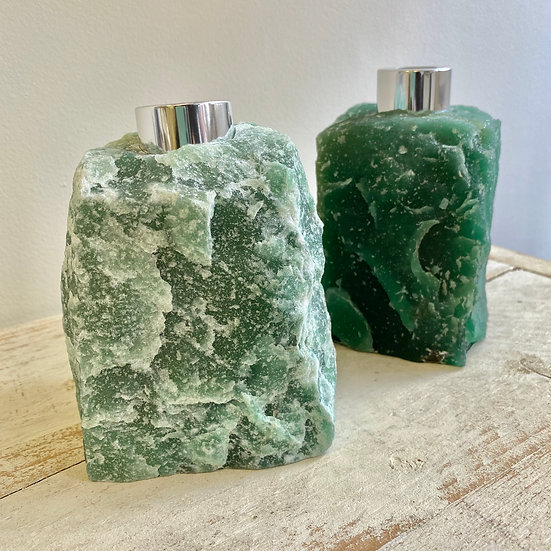 Raw Green Aventurine Reed Diffuser Bottle