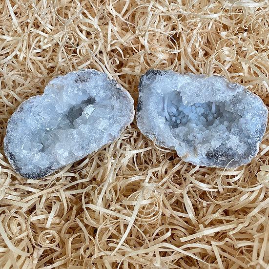 Chalcedony Quartz Geode Set #4