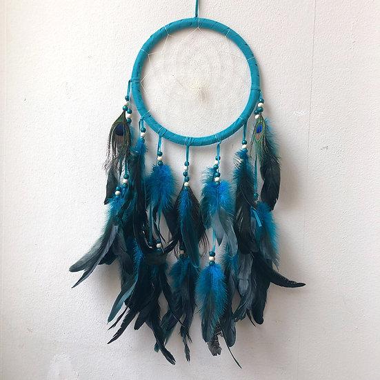 Turquoise Peacock Dreamcatcher