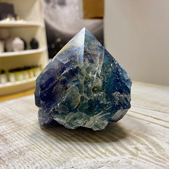 Fluorite Half Polished Point #5