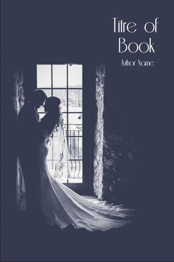 Couverture Livre Ebook Couple Romance Historique Noir Et Blanc