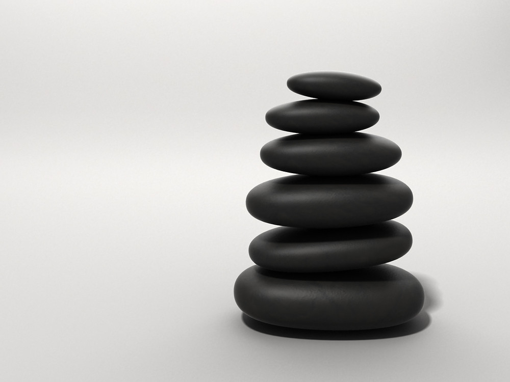 Balanced rocks represent the balancing act that teachers do every day in the classroom