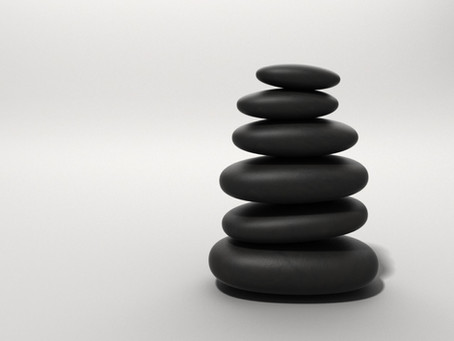 Find the 'calm' in a stone massage